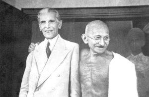 quaid azam with gandhi